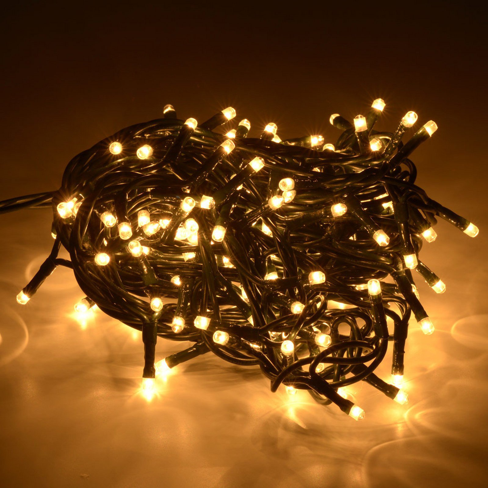 Luci natale 100 led per esterno luce calda casa mia shopping for Luci a led per interni casa