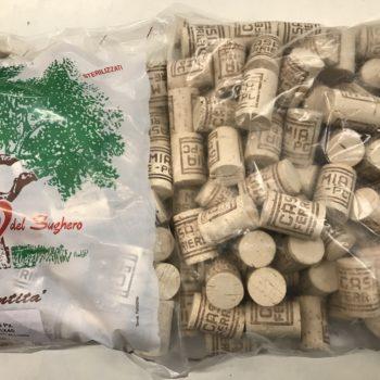 tappi in sughero pronti all'uso- per bottiglie e bottiglioni  - 100pezzi-