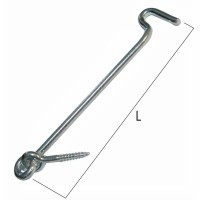 gancio zincato fermafinestra mm 4.5 x160