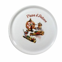 piatto pizza porcellana  cm 31 decoro cuoco
