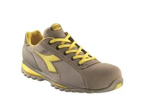 scarpa bassa in rete e vitello scamosciato, puntale alluminio 200, inserto antiperforazione beige S1P.