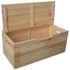 cassapanca in legno di pino essiccato con coperchio,listelli 12 mm.kit di montaggio con viti, cm 100x40x50h