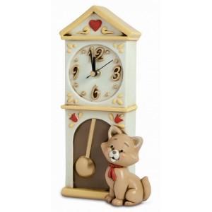 orologio egan i gatti colore marrone,dipinto a mano