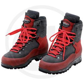 scarpa di sicurezza adatta per motoristi,con protezione antitaglio e punta in acciaio. Rivestmento in pelle,fodera in GORE TEX,suola in gomma VIBRAN. nunero 45