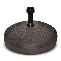 base per ombrellone in plastica tipo rattan  adatto per ombrelloni con asta diam. 19/33 mm