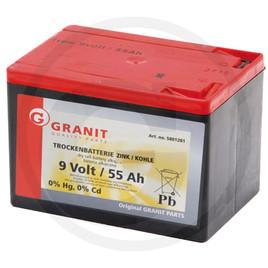 batteria a secco da 9 V 55Ah mm.165x112x113 kg.2,08 eco:senza cadmio né mercurio.