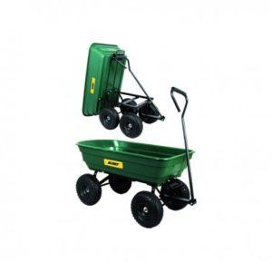 carrello in acciaio vasca pp ribaltabile,4 ruote plastica  carico 270kg/lt80 115x50x97