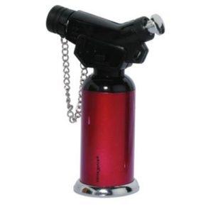 accendigas creme brulee in metallo,a gas fiamma blu antivento,con regolatore di fiamma ricaricabile,leva accensione di sicurezza,cm 11