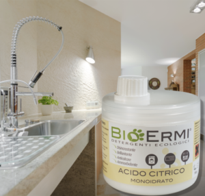 acido citrico gr.500 ideale diluito al 18% come: disincrostante per lavatrice,brillantante per lavastoviglie,ammorbidente,disincrostante per ferri da stiro.