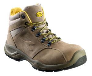 scarpa alta s3 in nabukidrorepellente -puntale multilayer-calzata 11-plantare estraibile - colore noce-