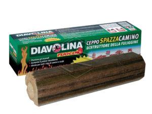 ceppo distruggi fuliggine, ideale per pulire camini e stufe,previene gli incendi.