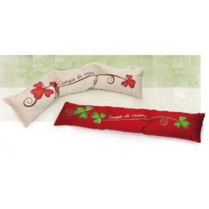scaldino lungo in cotone con interno noccioli di ciliegio,cm 56x10 cm. colori rosso o bianco