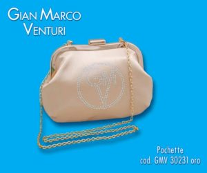 borsetta cerimonia art 231 in tessuto raso,con strass,color oro,tracollina in catena metallica,misure cm 16x12