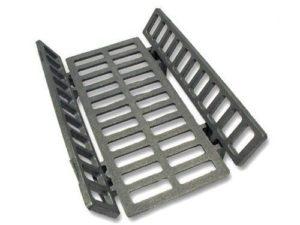 griglia in ghisa per stufa parlor mm.342x195- set 3 pezzi