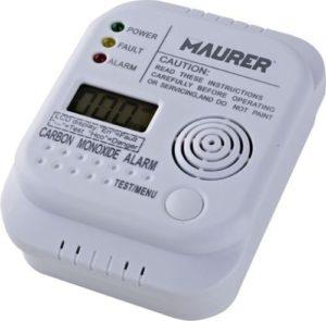 rilevatore di monossido di carbonio- sensore elettrochimico-display digitale-intensità allarme 85 db a 1 metro-funziona con 3 batterie tipo AA (INCLUSE)