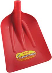 pala da neve colore rosso in fibra di vetro.