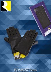 guanti in vera pelle nera  molto morbidi ,taglia XL