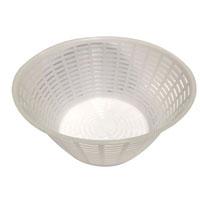 stampo per formaaggio e caciotta - in polipropilene- diametro cm.18.50/11.50 h cm 9- per 1000 gr di prodotto.