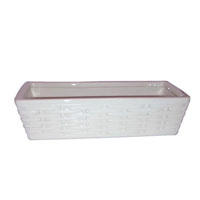 umidificatore a vaschetta in ceramica-colore bianco- misure cm 21x9x5h-