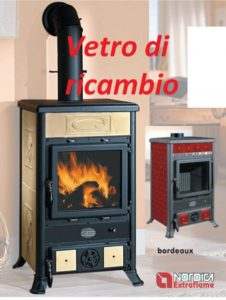 vetro ricambio per stufa a legna mod. rossella by NORDICA
