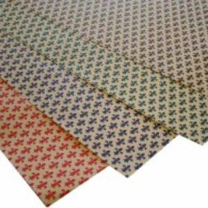 carta cassetti giglio fiorentino - h. cm 50 L mt 5 - giglio marrone -