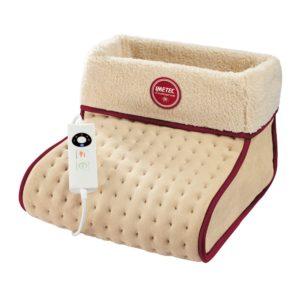 adatto a tutti i piedi -  consumo ridotto 20 w - autospegnimento a 3 ore - comando digitale 5 temperature - morbido tessuto in microplush, lavabile e sfoderabile -