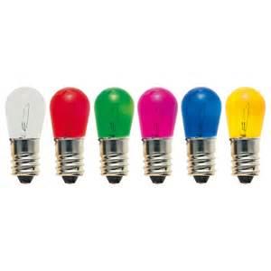 set 6 pezzi lampadine da 14 volt - 5 watt -colori assortiti - adatte per catenarie di natale da 20 luci -