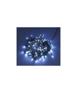 100 luci led per esterno /interno -IP 44 - colore bianco - lunghezza cavo con luci mt.5  -lungezza prolunga mt 2.