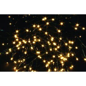180 luci led per esterno/interno - IP 44 - luce calda gialla- cavo con lampade mt 7.5 -cavo prolunga mt 2.