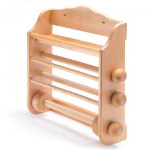 portarotolo in legno -noce chiaro- ideale per rotolo scottex,per pellicola, per alluminio.
