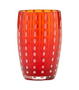 set 2 bicchieri  lavorati a mano colore rosso