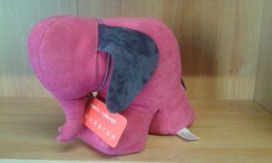 fermaporte elefante - dimensioni  cm 26 x 14 - peso kg 1,5 - colore fucsia/blu