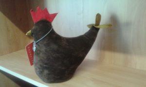 fermaporte gallina - dimensioni cm 26x14 - peso kg 1,5 - colore marrone /rosso