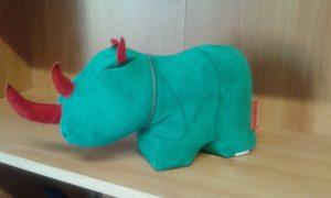 fermaporte rinoceronte - dimensioni cm 26x14 - peso kg 1,5 - colore verde acquamarina -