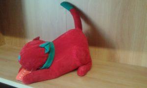 fermaporte gatto - dimensioni cm 26x14 - kg 1,5 - colore rosso/verde