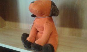 fermaporte cane - dimensioni cm 26x14 - peso kg 1,5 - colore ruggine/marrone -