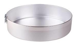 teglia rotonda in alluminio diaametro cm.32 h cm 7 spessore 2 mm.  con asola -