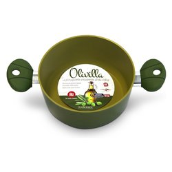 casseruola a due manici - rivestimento esclusivo con olio di oliva - diametro cm 20 -