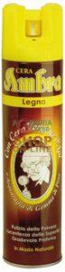 cera spray per legno - prodotta con acquaragia purissima vegetale estratta dalle gemme di pino - a base di cera d'api - vero nutrimento per i vostri pavimenti e mobili in legno - gradevole profumo -