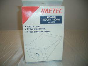 confezione 5 sacchi in carta per aspirapolvere mousy 1400 - art 8001-