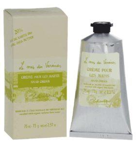crema per mani al burro di karite' - dona morbidezza  e idratazione con delicato profumo di verveines. tubetto da 75ml.