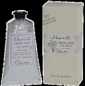 crema per mani al burro di karite'- protegge la pelle delle mani e dona un delicato profumo di fiori di lili -