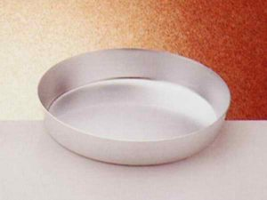 tortiera conica alta cm 4.5 -in alluminio 99.99% - diametro cm 40 -