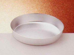 teglia conica alta cm 5- in alluminio purissimo -diametro cm 44-