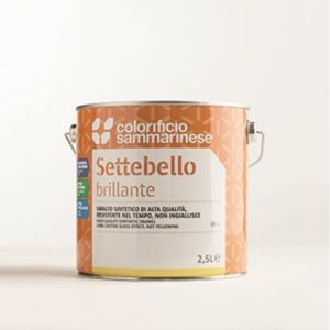 smalto a solvente sintetico o acquaragia -molto brillante - idoneo per esterno e interno - adatto per legno e ferro - ml 750 -