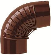 gomito smaltato marrone diametro cm 16 -