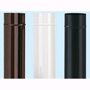 tubo smaltato per stufe - diametro cm 15 - altezza cm 50 - colore marrone - tipo pesante -