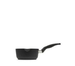 casseruola a 1 manico - rivestimento antiaderente nero - molto resistente ai graffi e usura - lavabile in lavastoviglie - made in italy -