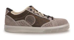 scarpe antinfortunistica basse - tomaia in pelle scamosciata con inserti in canvas - puntale in alluminio - suola antiperforazione -