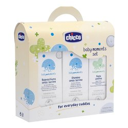set trial chicco: 1 bagnoschiuma senza lacrime ml 200 - 1 shampoo senza lacrime ml 200 - 1 acqua di colonia ml 100 - ipoallergenici - 1